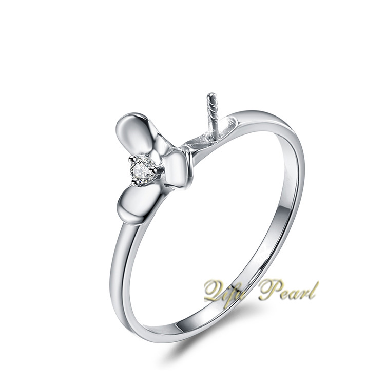 925 Silver Pearl Ring Mounting