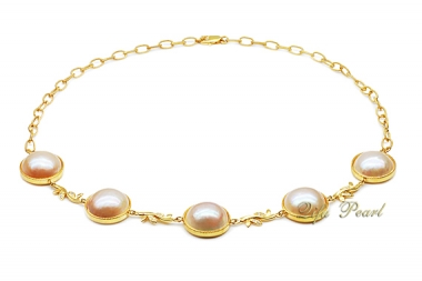 925 Silver Mabe Pearl Necklace
