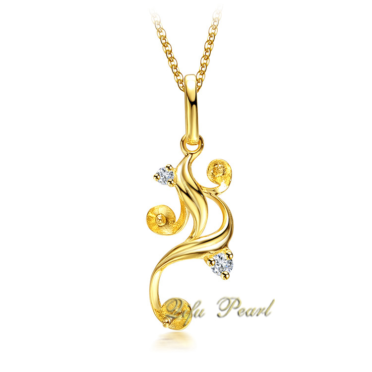 18K Yellow Gold Pearl Pendant Mounting