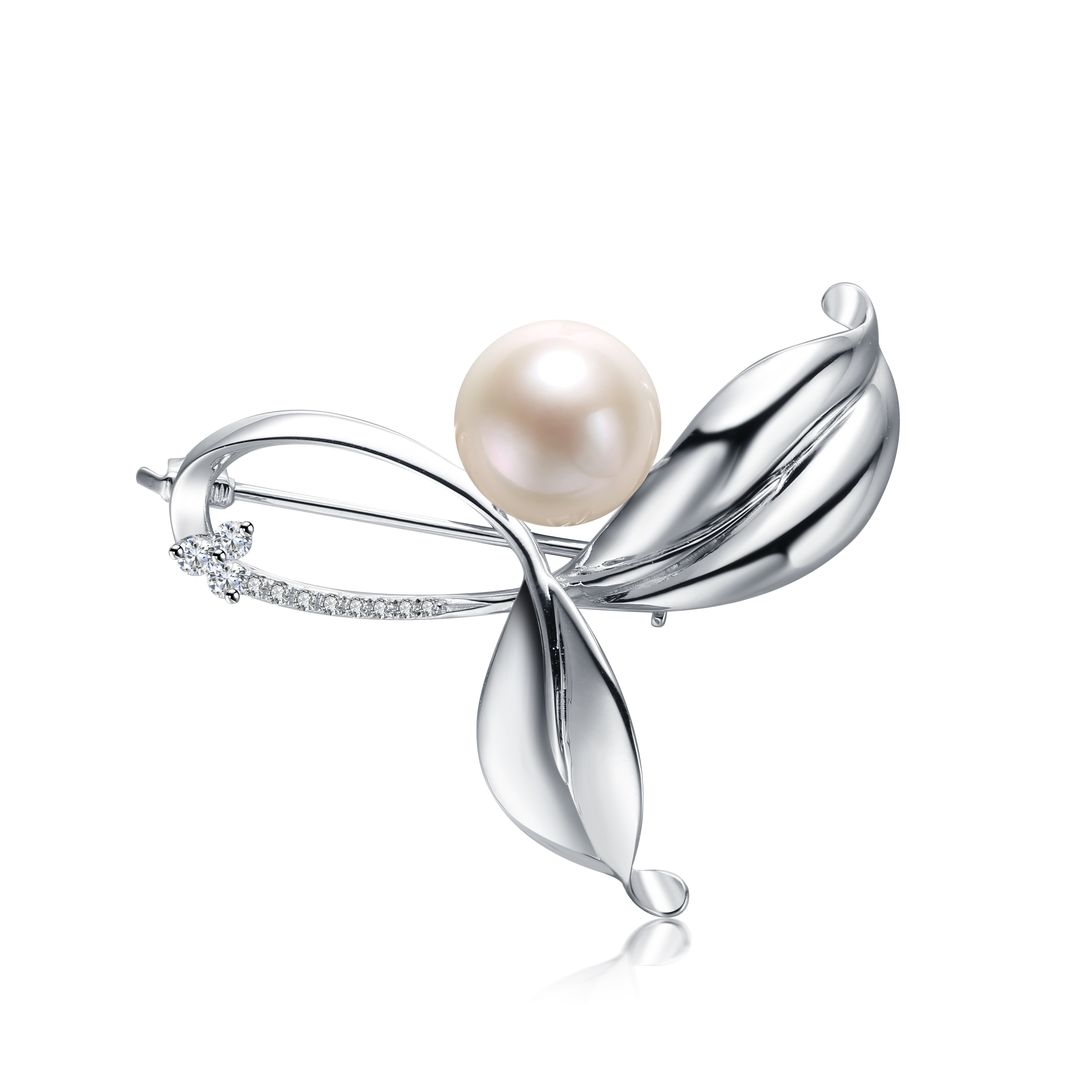 925 Silver Freshwater Pearl Brooch