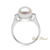 Wholesale 925 silver freshwater pearl ring