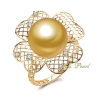 Wholesale 18K Yellow Gold Pearl Ring Mounting
